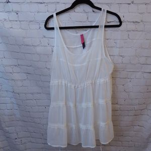 Pure Energy Sheer White Tank Size 1